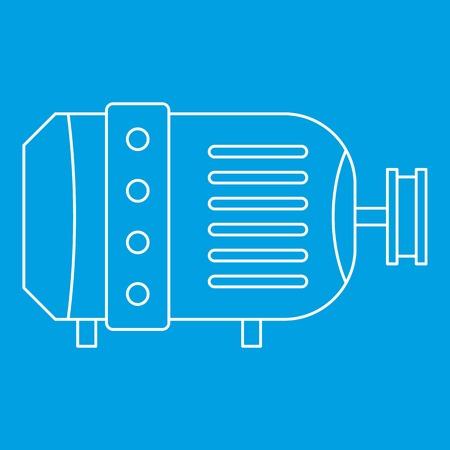 電気モーター アイコン、アウトラインのスタイル