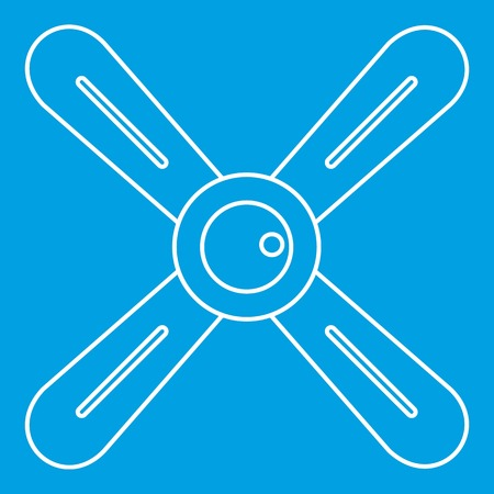 Propeller icon, outline style Illustration