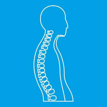 Human spine icon, outline style Illustration