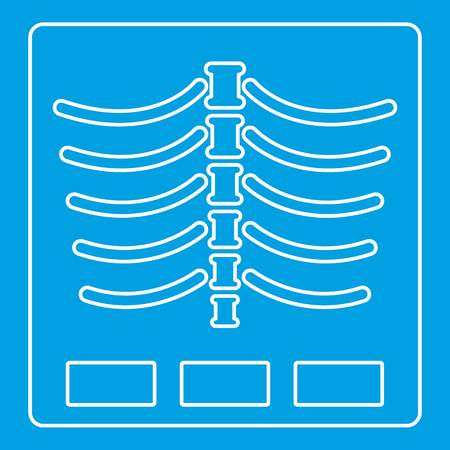 X ray photo icon, outline style