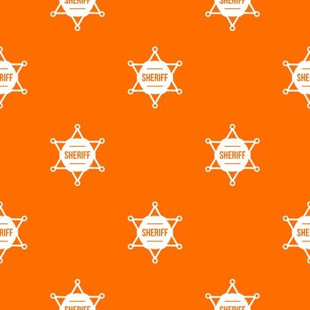 Sheriff badge pattern seamless