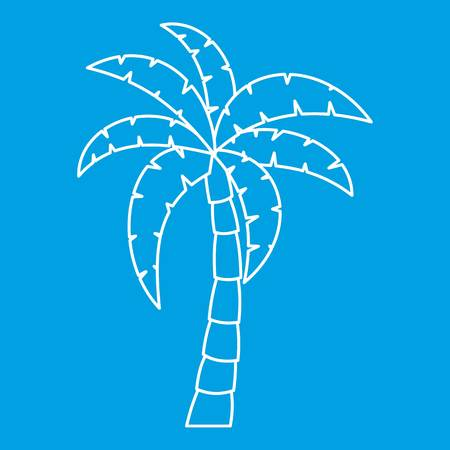 Palm tree icon, simple style