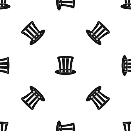 uncle sam hat pattern seamless black royalty free cliparts vectors