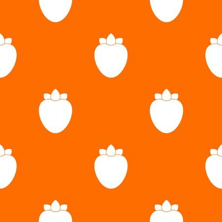 Ripe persimmon pattern repeat seamless in orange color for any design. Vector geometric illustration