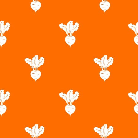 Fresh beetroot pattern repeat seamless in orange color for any design. Vector geometric illustration Illustration