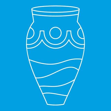 earthenware: Ceramic vase icon, simple style