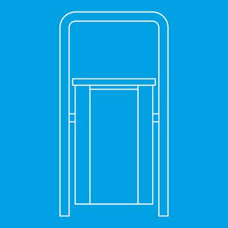 refuse: Outdoor litter waste bin icon, outline style