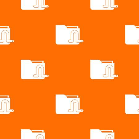 security monitor: Computer worm pattern repeat seamless in orange color for any design. Vector geometric illustration Illustration