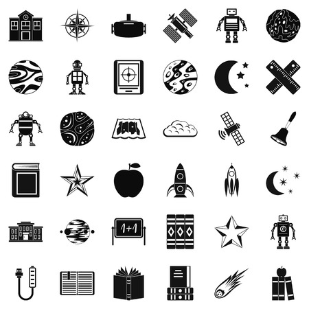fire plug: Astronomy icons set. Simple style of 36 astronomy vector icons for web isolated on white background Illustration
