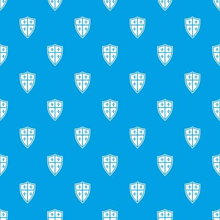 combatant: Royal shield pattern repeat seamless in blue color for any design. Vector geometric illustration Illustration