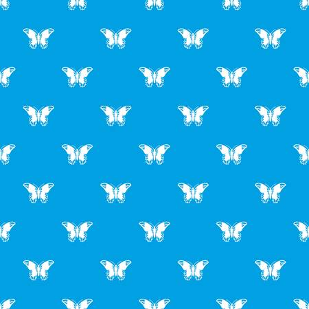 admiral: Admiral butterfly pattern repeat seamless in blue color for any design. Vector geometric illustration