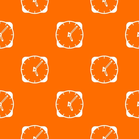 Watch pattern repeat seamless in orange color for any design. Vector geometric illustration Illustration