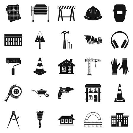 Undertaking icons set. Simple set of 25 undertaking vector icons for web isolated on white background