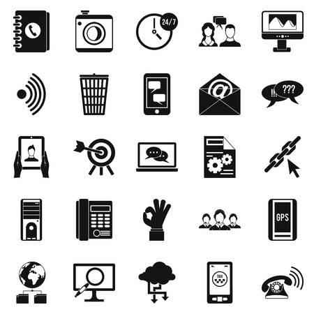Automatic redial icons set. Simple set of 25 automatic redial vector icons for web isolated on white background Illustration