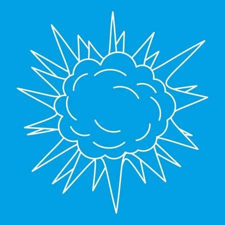 Spica icon blue outline style illustration vectorielle isolée. Signe de ligne mince