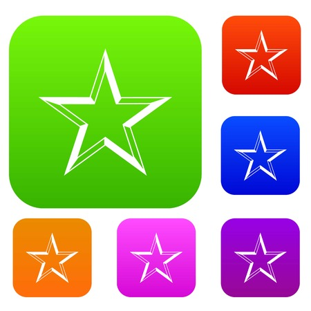 five star: Star set icon in different colors isolated vector illustration. Premium collection