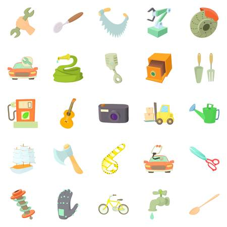Weaver icons set. Cartoon set of 25 weaver vector icons for web isolated on white background Illustration