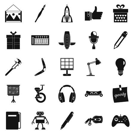 Boon pictogrammen instellen. Eenvoudige reeks van 25 zegen vectordiepictogrammen voor Web op witte achtergrond wordt geïsoleerd