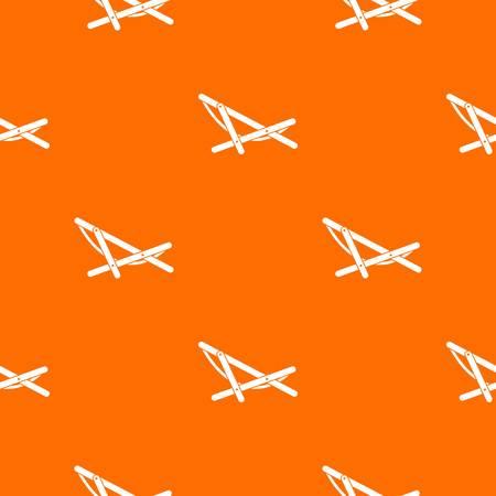비치 쉐이크 패턴 반복 디자인 오렌지 색상. 벡터 기하학적 그림 일러스트