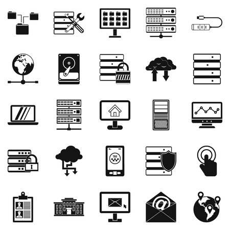 wireless communication: Handheld icons set. Simple set of 25 handheld vector icons for web isolated on white background Illustration