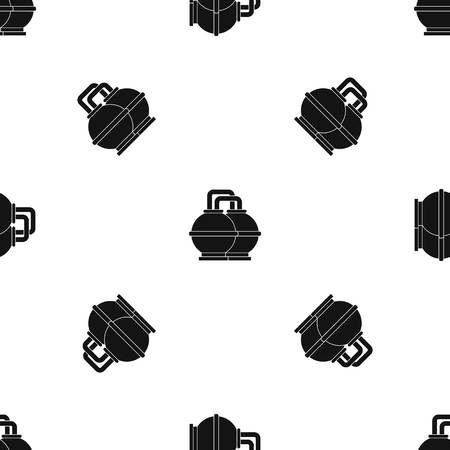 heavy: Industrial tanks for petrol and oil pattern repeat seamless in black color for any design. Vector geometric illustration