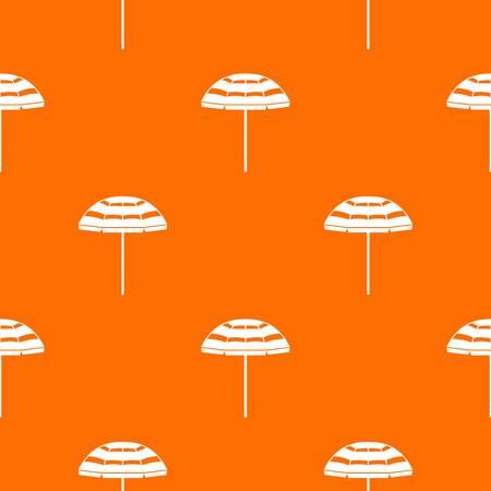 Beach umbrella pattern repeat seamless in orange color for any design. Vector geometric illustration
