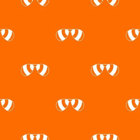 look in mirror: Glasses pattern repeat seamless in orange color for any design. Vector geometric illustration