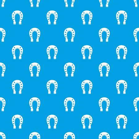 Horse shoe pattern seamless blue Illustration