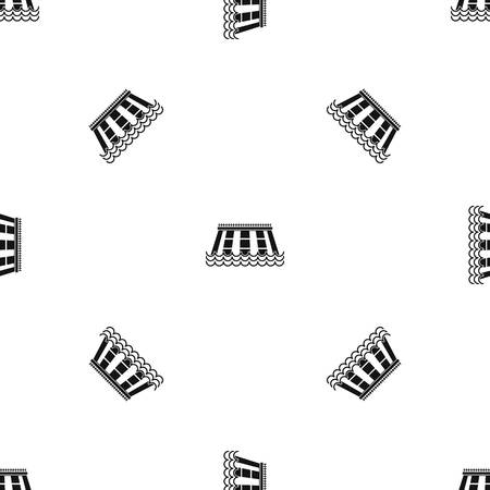 Hydroelectric power station pattern seamless black