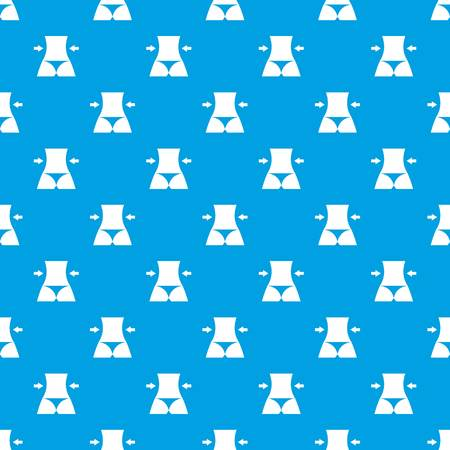 Slim body of a woman pattern repeat seamless in blue color for any design. Vector geometric illustration