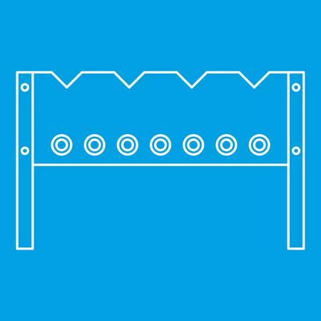 BBQ brazier icon blue outline style isolated vector illustration. Thin line sign