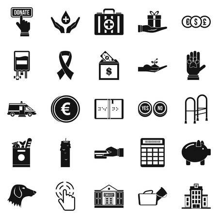 black family: Investment icons set. Simple set of 25 investment vector icons for web isolated on white background Illustration