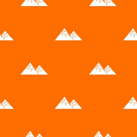 ice: Swiss alps pattern repeat seamless in orange color for any design. Vector geometric illustration Illustration