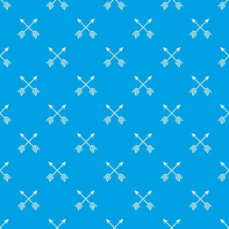 Arrows LGBT pattern repeat seamless in blue color for any design. Vector geometric illustration