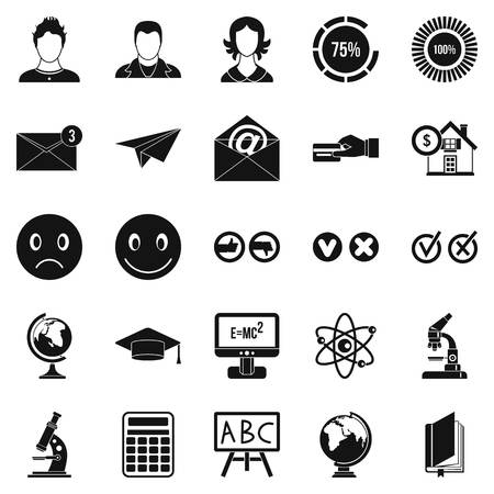 Erudite icons set. Simple set of 25 erudite vector icons for web isolated on white background