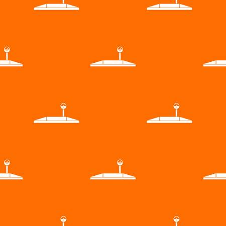 Parking scales pattern repeat seamless in orange color for any design. Vector geometric illustration