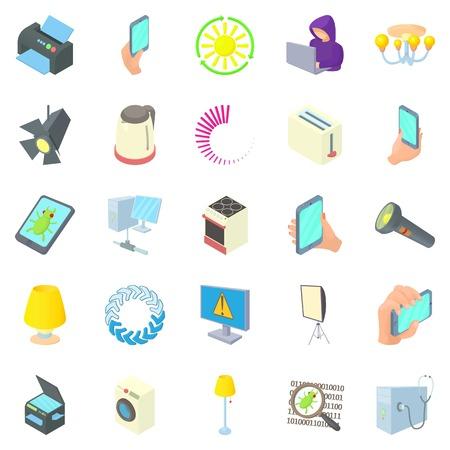 Lantern icons set. Cartoon set of 25 lantern vector icons for web isolated on white background