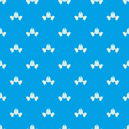 army gas mask: Gas mask pattern repeat seamless in blue color for any design. Vector geometric illustration Illustration