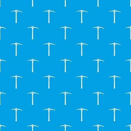 steel industry: Pick pattern repeat seamless in blue color for any design. Vector geometric illustration