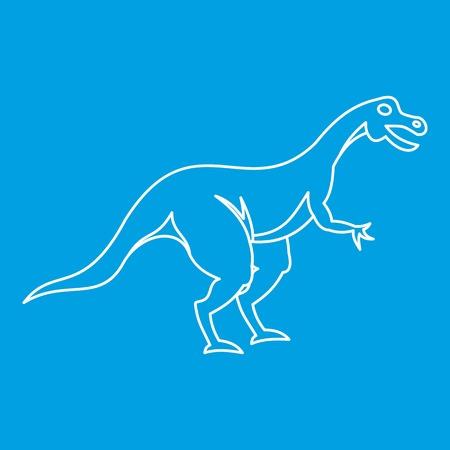 Hypsilophodon dinosaur icon, outline style