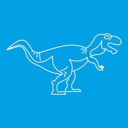 Tyrannosaur icon, outline style