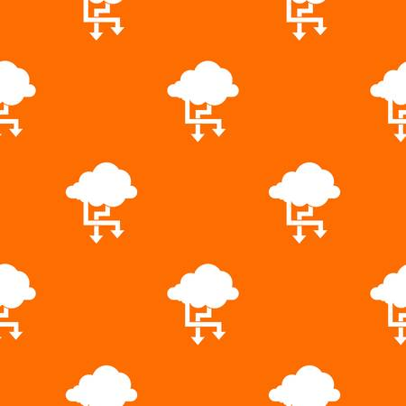 Cloud and arrows pattern seamless