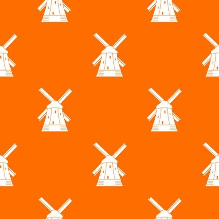 Mill pattern seamless Illustration