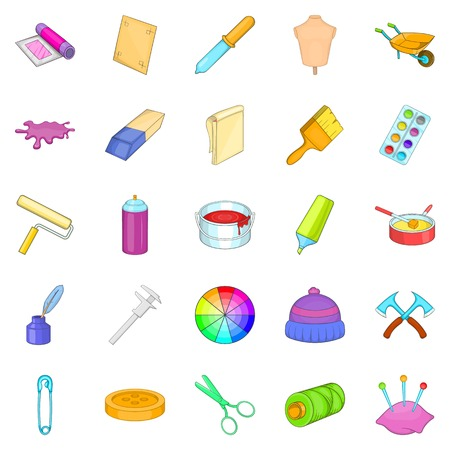 Wallpaper icons set, cartoon style
