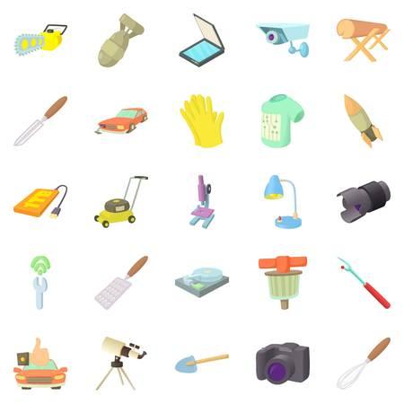 Metier icons set, cartoon style Illustration