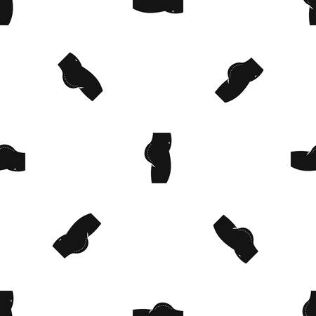 Plastic surgery of pattern seamless black Vetores
