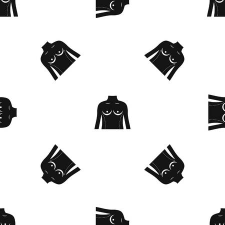 Plastic surgery of torso pattern repeat seamless in black color for any design. Vector geometric illustration Illustration