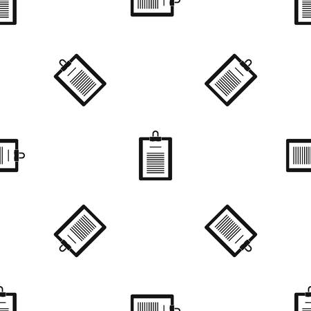 checklist: Clipboard with checklist pattern repeat seamless in black color for any design. Vector geometric illustration Illustration