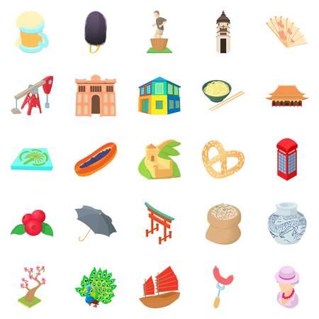 Culture of communication icons set. Cartoon set of 25 culture of communication vector icons for web isolated on white background