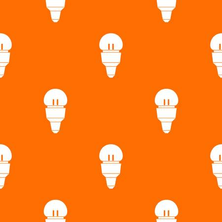 Reflector bulb pattern repeat seamless in orange color for any design. Vector geometric illustration